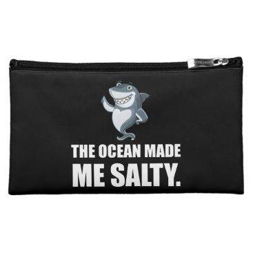 Ocean Made Me Salty Shark Cosmetic Bag
