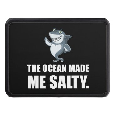 Beach Themed Ocean Made Me Salty Shark Trailer Hitch Cover