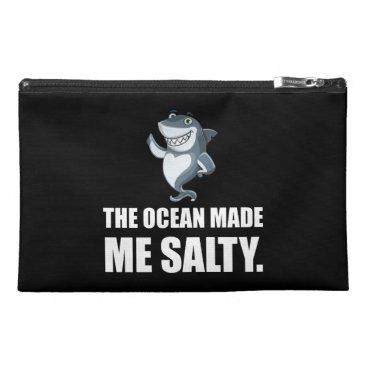 Ocean Made Me Salty Shark Travel Accessory Bag