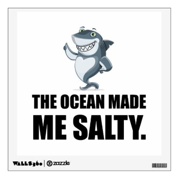 Ocean Made Me Salty Shark Wall Decal