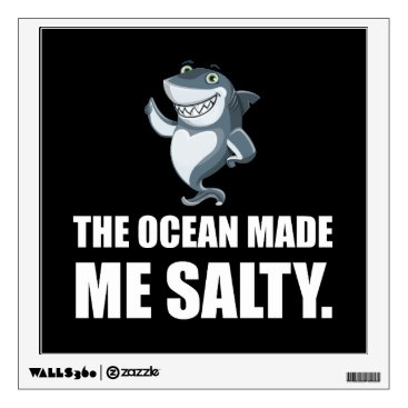 Ocean Made Me Salty Shark Wall Sticker