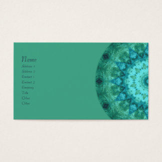 Ocean Medallion Kaleidoscope Business Card