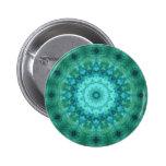 Ocean Medallion Kaleidoscope Pinback Buttons