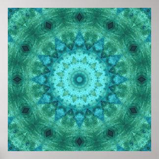 Ocean Medallion Kaleidoscope Posters