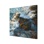 Ocean Meets the Rocks Stretched Canvas Print
