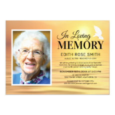 Ocean Memorial Service | In Loving Memory Photo Invitation
