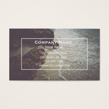 Beach Themed Ocean Minimalist Business Card