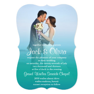 "Ocean Mist Wedding Invitation 5"" X 7"" Invitation Card"
