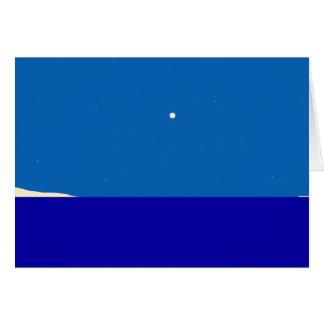 Ocean, Moon and Stars Card