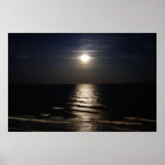 Ocean Moon Poster