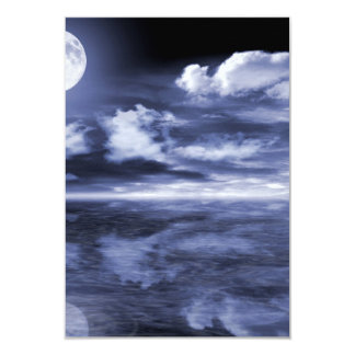 Ocean Moon Reflection Card