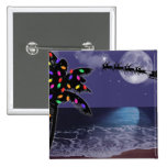 Ocean Moonlight Christmas Holiday 2 Inch Square Button