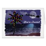 Ocean Moonlight Christmas Holiday Cards