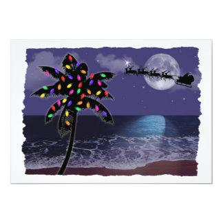 """Ocean Moonlight Christmas Holiday 5"""" X 7"""" Invitation Card"""