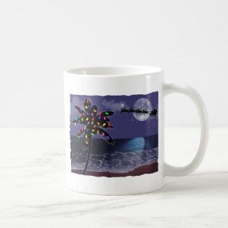 Ocean Moonlight Christmas Holiday Mugs