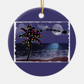 Ocean Moonlight Christmas Holiday Christmas Ornament