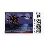 Ocean Moonlight Christmas Holiday Stamp