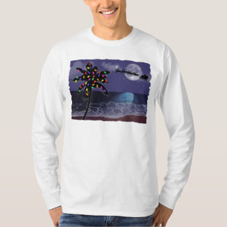 Ocean Moonlight Christmas Holiday T-Shirt