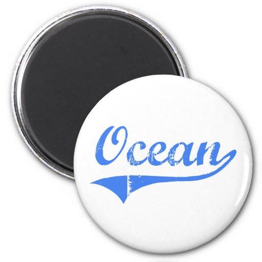 Ocean New Jersey Classic Design Magnet