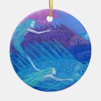 Ocean nomads ceramic ornament