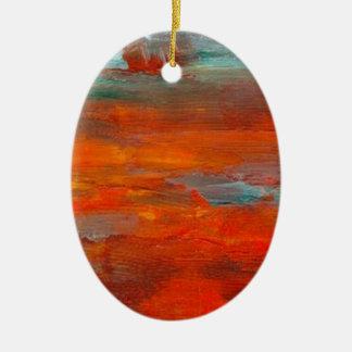 Ocean of Fire Ceramic Ornament