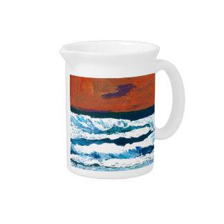 Ocean of My Soul Ocean Waves Sea Decor Drink Pitcher