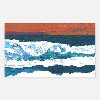 Ocean of My Soul Ocean Waves Sea Decor Rectangular Sticker