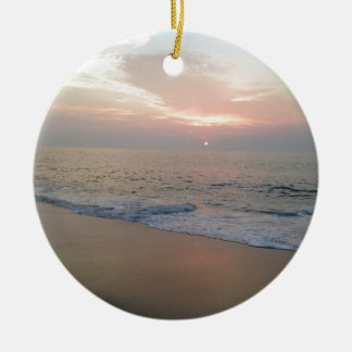 Ocean Double-Sided Ceramic Round Christmas Ornament