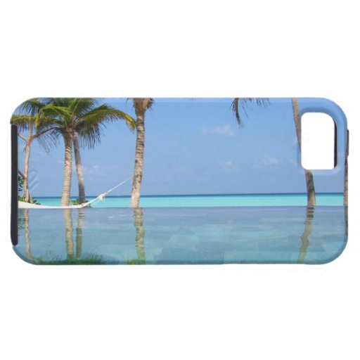 Ocean & Palm trees with hammock iPhone SE/5/5s Case