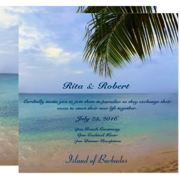 AGirlsGottaZazzle Ocean | Palm | Wedding Invitation Semi-Gloss