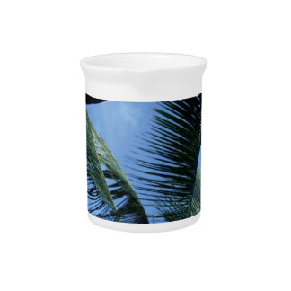 Ocean, Palms, and Yachts Beverage Pitchers