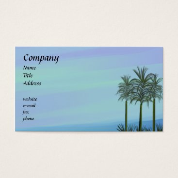 Professional Business Ocean Palms Business Card
