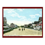 Ocean Park Ave, Bradley Beach, NJ Vintage Post Card
