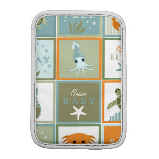 Ocean Patchwork iPad Mini Sleeve