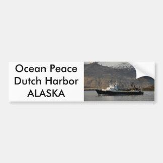 Ocean Peace, Factory Trawler in Dutch Harbor, AK Car Bumper Sticker