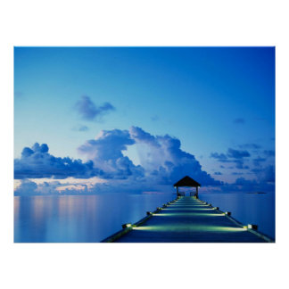 Ocean Peer Dock Poster