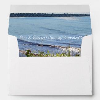 "Ocean | Personalized Envelope  7 ¼"" x 5 ¼"""