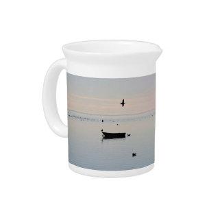 Ocean photo beverage pitcher