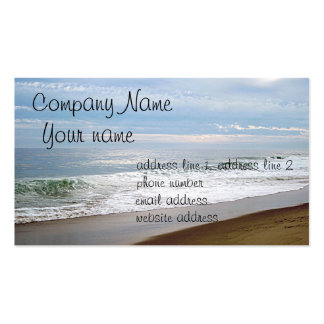 Ocean photo business card