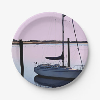 Ocean photo paper plate