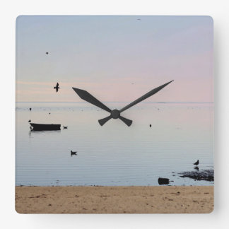 Ocean photo square wall clock