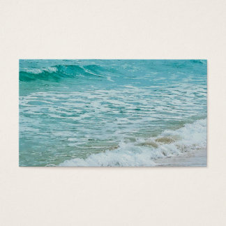 ocean photograph business cards custom template