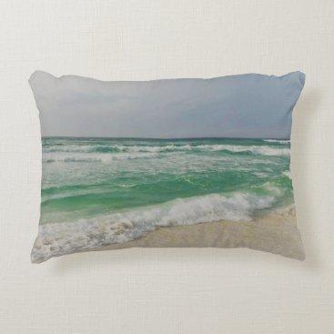 Beach Themed Ocean Pic Decorative Pillow