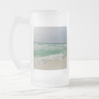 Ocean Pic Frosted Glass Beer Mug