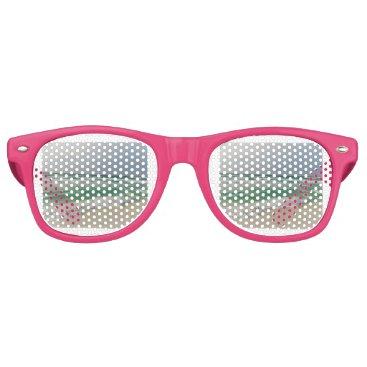 Beach Themed Ocean Pic Retro Sunglasses