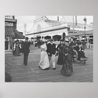 Ocean Pier in Atlantic City 1902 Poster