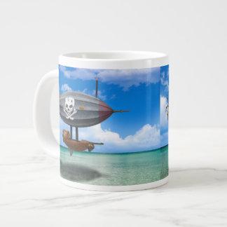 Ocean Pirate Steampunk Airship Coffee Mug