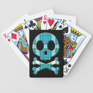 Ocean Plaid Bicycle Playing Cards