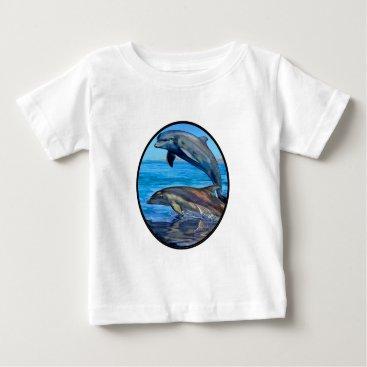 Hawaiian Themed Ocean Playmates Baby T-Shirt