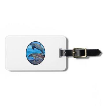 Hawaiian Themed Ocean Playmates Luggage Tag